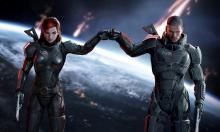 Mass Effect has customizable protagonists, or you can stick with the well designed default.