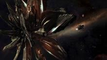 Massive Thargoid dwarfs a tiny Human vessel