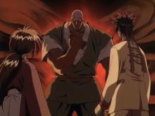 Sanosuke decides to fight Anji in order to advance towards Shishio.