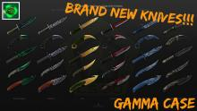 Gamma case knife skins