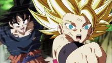 Goku battling Caulifa