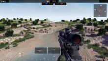The player is aiming at an enemy