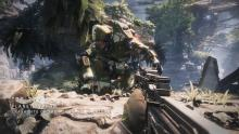 The player is attempting to eliminate the titan