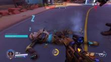 Ana putting an enemy Genji to sleep