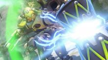 Orisa using her ultimate ability, the Supercharger.
