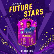 EA recently recognised McKennie's talent with a future stars upgrade.