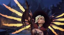 Mercy saving her teammates from death
