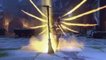 Mercy using one of her emotes.