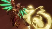 A screenshot of Mercy's highlight intro from the Lunar New Year event.