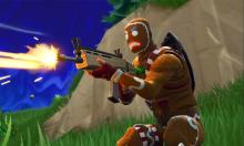 You can't catch him, he's the gingerbread man. Merry Marauder sprays down his enemies with his assault rifle.