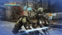 Raiden uses an electric flail type weapon to rip apart an enemy in Metal Gear Rising: Revengeance