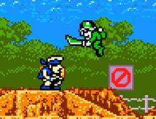Gameplay from the original Metal Slug game