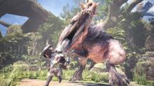 Anjanath, a T-Rex-inspired monster, makes its first appearance on Monster Hunter World.