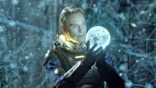 Michael Fassbender has the world at his fingertips in Prometheus