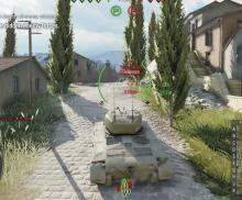 Creeping through the countryside in World of Tank's arcade/sim hybrid gameplay.
