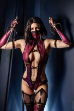 Mileena will impale you when she throws her sais like daggers.