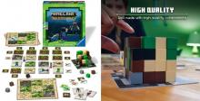 A promotional shot of the Minecraft Builders and Biomes strategy game