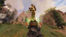 Mirage loves himself so much he has a golden statuette of himself!