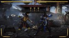The tutorial mode introduces players to the combo system.