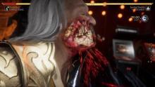 Shang Tsung eats a bone-breaking uppercut.