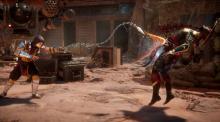 Scorpion fights Raiden