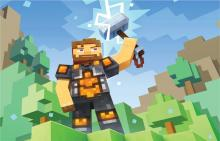 A cool Minecraft screensaver for Marvel fans