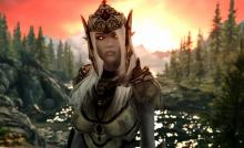 A modded player companion of the ancient Snow Elf race.