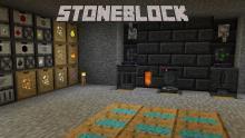 The Stone Block modpack creates a world of stone.