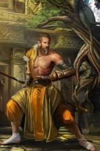 There aren't many things scarier than a monk defending their temple.