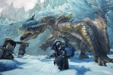 This icy landscape is just one of the many biomes you'll explore in Monster Hunter: World