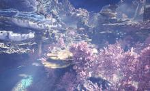 This fantasy land that could have been an underwater level in any other game.