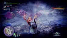 A monster in blast range - a Gunlance's favorite position.