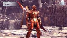 The Male armor just reminds me of Dark Souls, except we're wearing a dragon instead of steel plate mail.