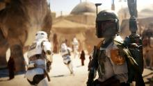 Boba Fett searches Mos Eisley for his next target