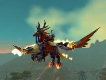 World of Warcraft Flameward Hippogryph