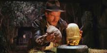 Indiana Jones has to be careful not to set off an ancient trap.