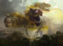 A three-headed dinosaur from Ixalan