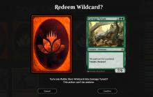 Wild cards can be exchanged for cards of the same rarity