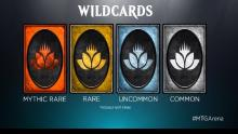 Wildcards are Arena's way of helping you build the collection you want.