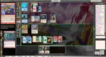 MTG Online replicates a game of paper Magic perfectly, with all of the rules handled for you.