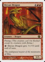 Shivan Dragon's next iteration from the 8th Edition set