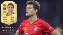 Muller's 4* weak foot means he can score you plenty of goals comfortably with either foot.
