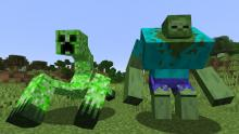 These are two beefed-up mobs that you will encounter in the Mutant Beasts mod.