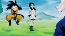 Videl learns to fly