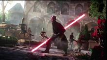 Maul, along with battle droids, is ready to take the Royal Palace on Naboo.