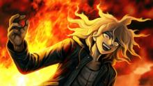 Nagito blowing up part of the island in Danganronpa 2