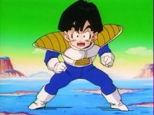 Gohan gets some much needed space from his mother Chi-Chi when he goes to planet Namek. In fact, once his other fighting gear gets damaged, he ends up wearing Frieza Force armor that signifies his readiness for battle compared to when he first faced the Saiyans.