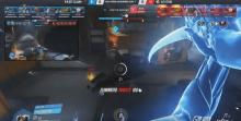Genji uses his ultimate while enhance by Ana