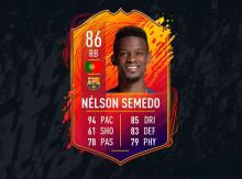 This Nelson Semedo headliner card is an upgrade to your team you must do, once you get the coins of course.