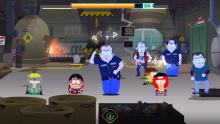 South Park Heroes must face off with the unpleasant cops.